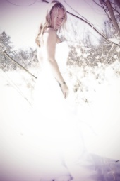 DCW Photography - Wedding Dress in Snow